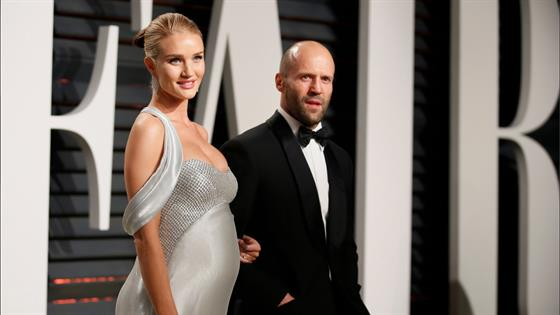 Pregnant Rosie Huntington-Whiteley Shines at Oscar Party