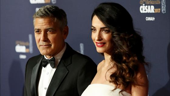 Amal Clooney Shows Off Her Baby Bump