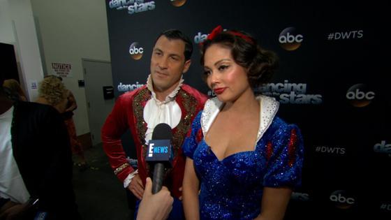 Vanessa Lachey & Maks Talk Disney Night