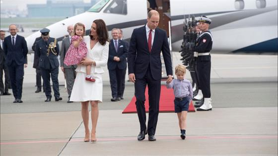 The Royal Family Arrives In Poland