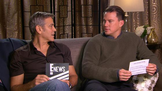 Play Video - George Clooney and Channing Tatum Answer Rapid Fire Qs