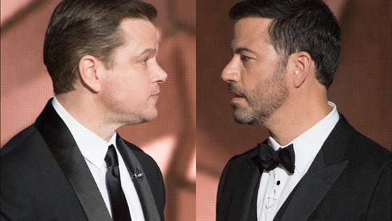 Kimmel Will Do Anything to Keep Matt Damon Off Oscars Stage