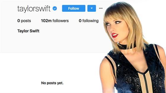 Les comptes de Taylor Swift sur les réseaux sociaux purgés