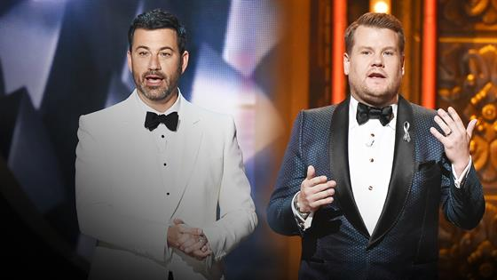 James Corden & Jimmy Kimmel's Hosting Rivalry Heats Up