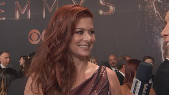 Debra Messing Dishes on