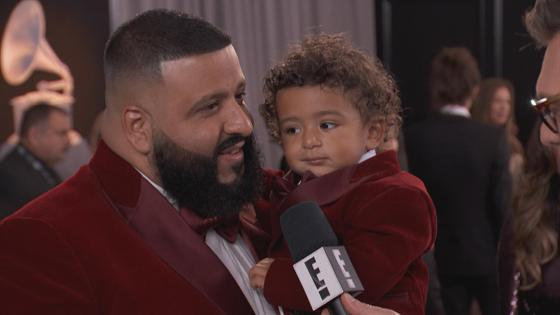 DJ Khaled Brings His Son Asahd to the 2018 Grammy Awards