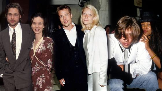 Look Back at Brad Pitt's Famous Exes