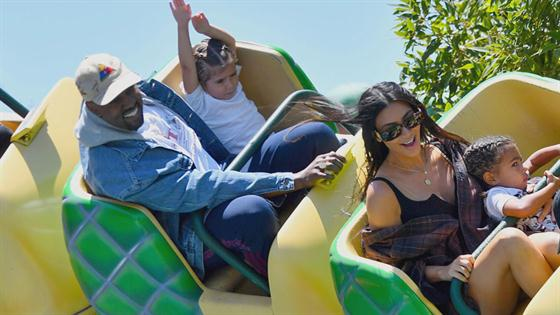 Kim K., Kanye and North Hit Disneyland in Style
