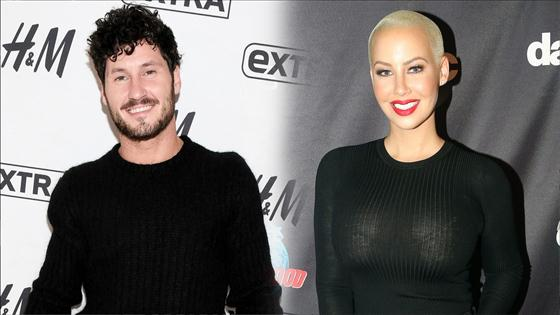 Image result for Amber Rose  Val Chmerkovskiy, Opens Up About 'Amazing' Romance on 'Loveline'