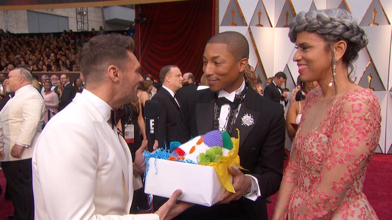 Pharrell Williams Receives the Coolest Gift from E! at ...