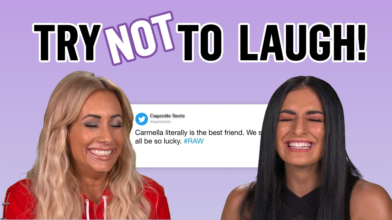 Total Divas' Carmella & Sonya Deville Try Reading Fan Tweets Without Laughing & It's Hilarious