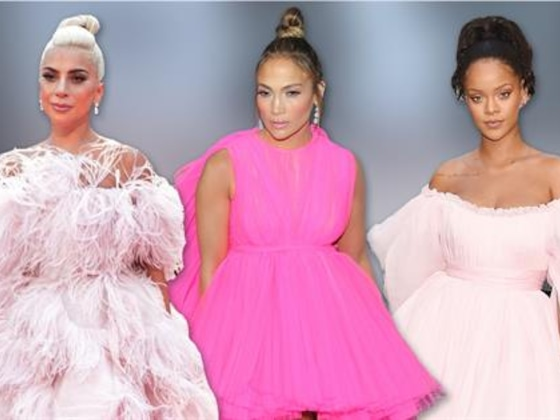 J.Lo & Other Celebs Are Pretty in Pink Gowns