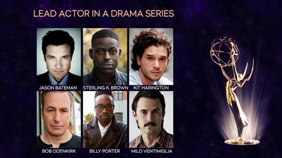 2019 Emmy Nominations for Drama Actor, Actress & Series