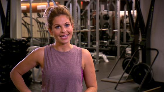 candace cameron bure says intense workout schedule helps