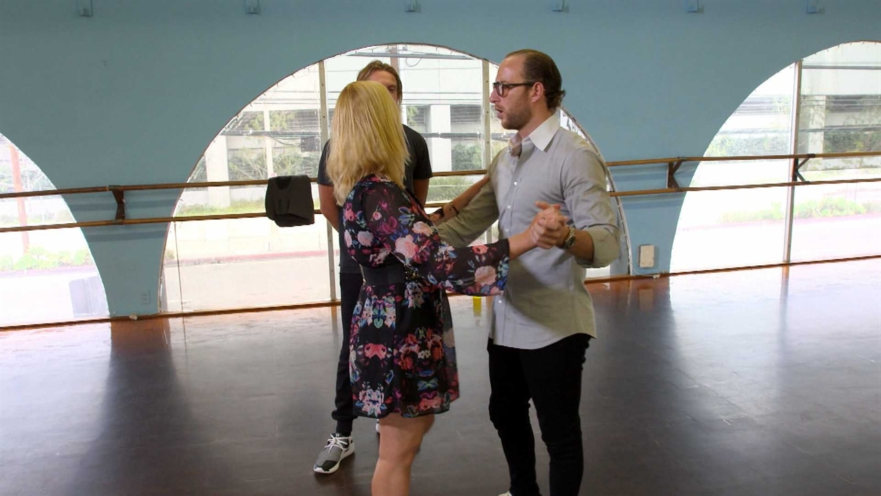 brendan fitzpatrick brushes up on his wedding dance