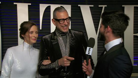 "Jeff Goldblum Calls Wife His ""Muse"" & ""Garden Elf"""