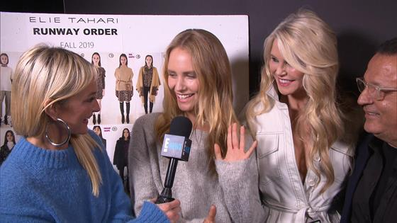04a9e59f837 Christie Brinkley and Daughter Sailor Brinkley Cook Walk NYFW Runway  Together
