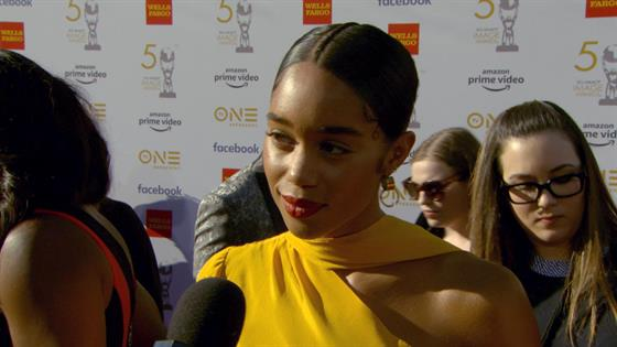 Laura Harrier Talks 50th NAACP Awards and 1st Time Presenting