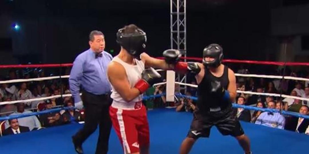 Rob Kardashian Takes Big Blows at Boxing Charity Event