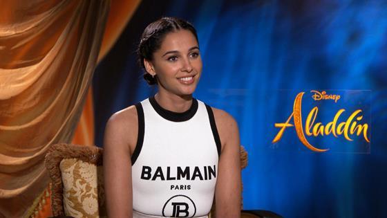 """Naomi Scott Makes Three Wishes & Talks """"Aladdin"""""""