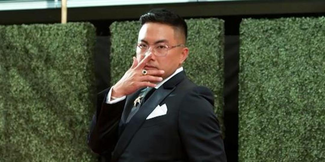 Bowen Yang GLAMBOT: Behind the Scenes at 2021 Emmys - E! Online.jpg