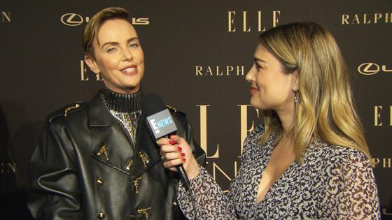 Charlize Theron Talks Megyn Kelly, Hand Injury More