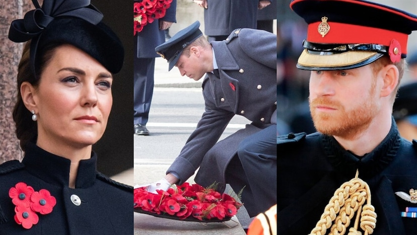 prince harry marks remembrance day after palace denies wreath request e online ca royals reunite at remembrance event without prince harry