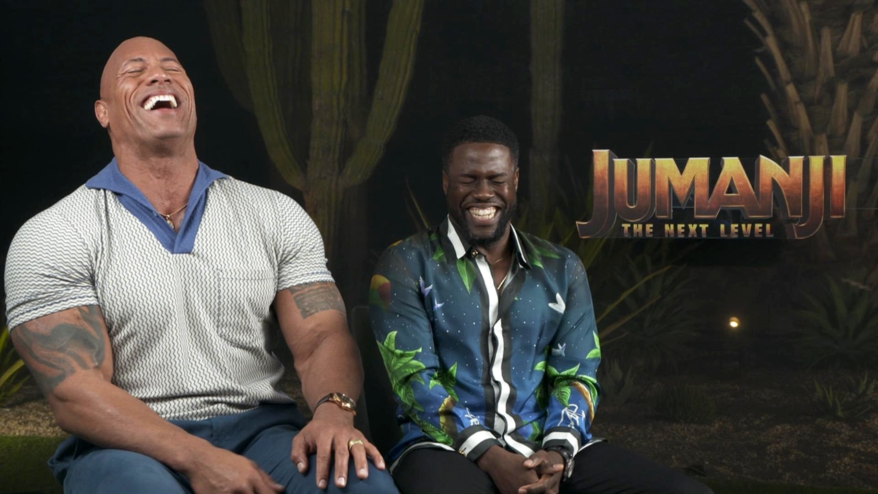 Watch Dwayne Johnson and Kevin Hart Exchange Epic Burns