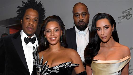 Kanye West and Jay-Z Reunite at Diddy's 50th B-Day Party After ...