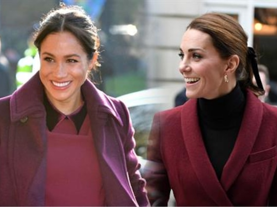 Meghan Markle and Kate Middleton Are Twinning in Burgundy