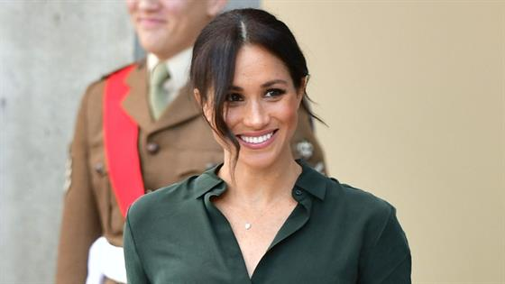 Meghan is stunning in leather as Duke and Duchess visit namesake county