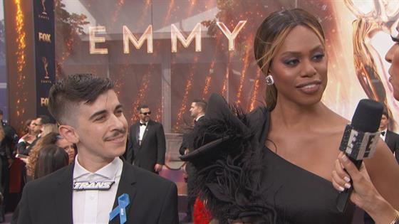 Laverne Cox's rainbow clutch made a big political statement at the Emmys