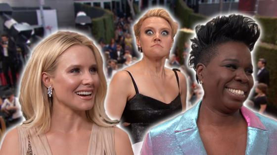 Emmys Red Carpet: Funny Ladies' Funniest Moments