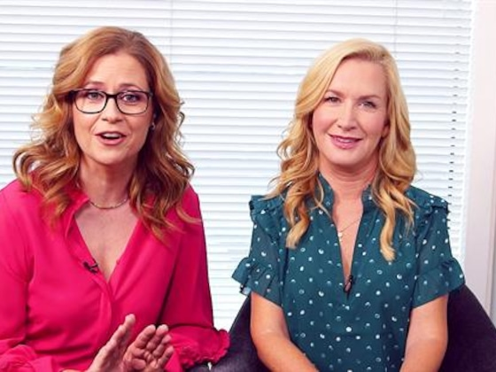 Jenna Fischer & Angela Kinsey Pay Homage to Michael Scott on Boss's Day