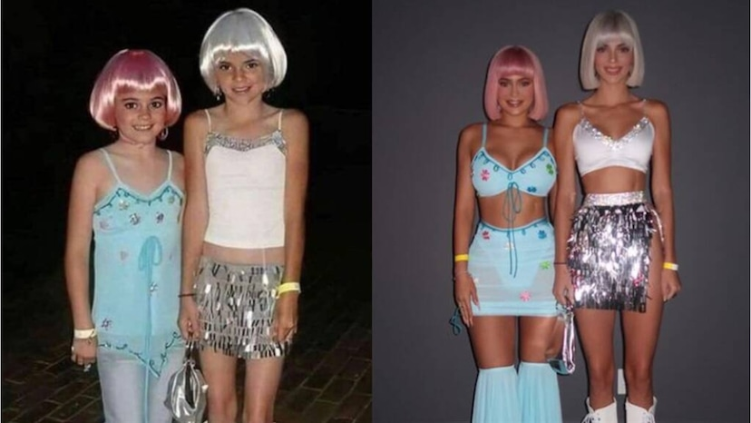 Kendall And Kylie Jenner Recreate Their Childhood Halloween Costumes E Online