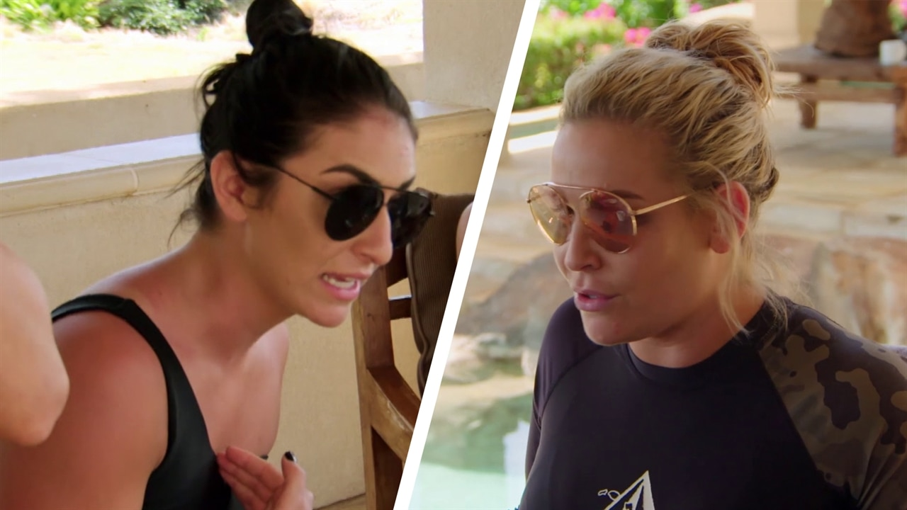 Nattie Neidhart and Sonya Deville's Maui Feud Reaches Its Boiling Point on Tonight's Total Divas