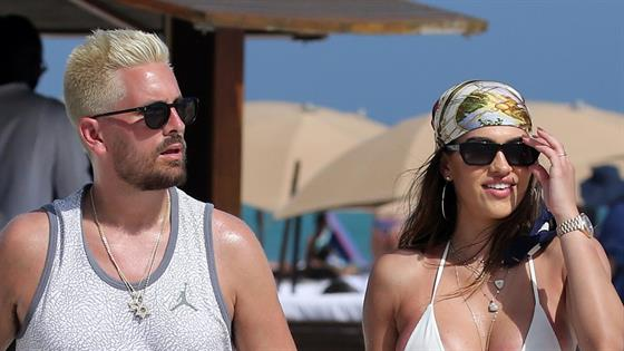 Amelia Hamlin Brings Scott Disick With Her Everywhere...Literally - E! Online