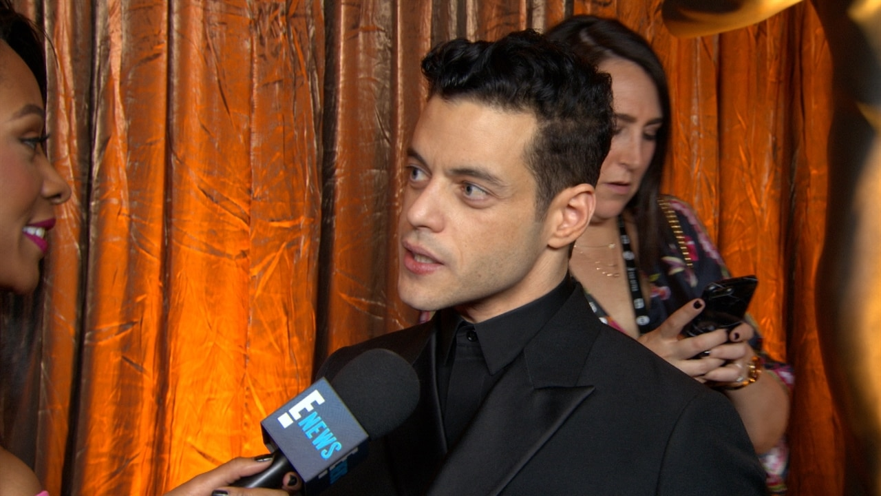 Rami Malek and Lucy Boynton Have a Date Night Before the Oscars