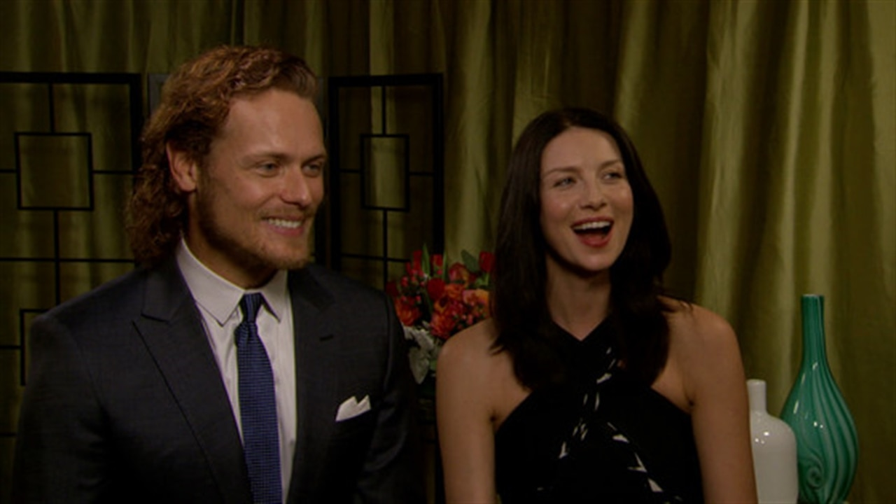 Sam Heughan Posts Hot Shirtless Selfie Caitriona Balfe
