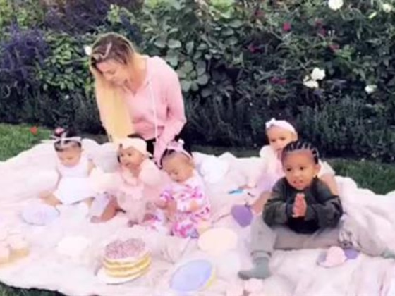 Khloe Kardashian's Daughter True Has Cupcake Party with Cousins