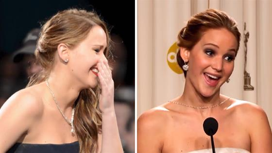 3 of Jennifer Lawrence's Famous Falls at Award Shows - E! Online