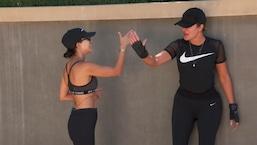 Khloé et Kourtney Kardashian font du sport avec la gueule de bois