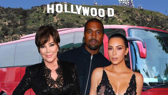 Kim Kardashian And Family Surprise Fans During Hollywood Bus Tour