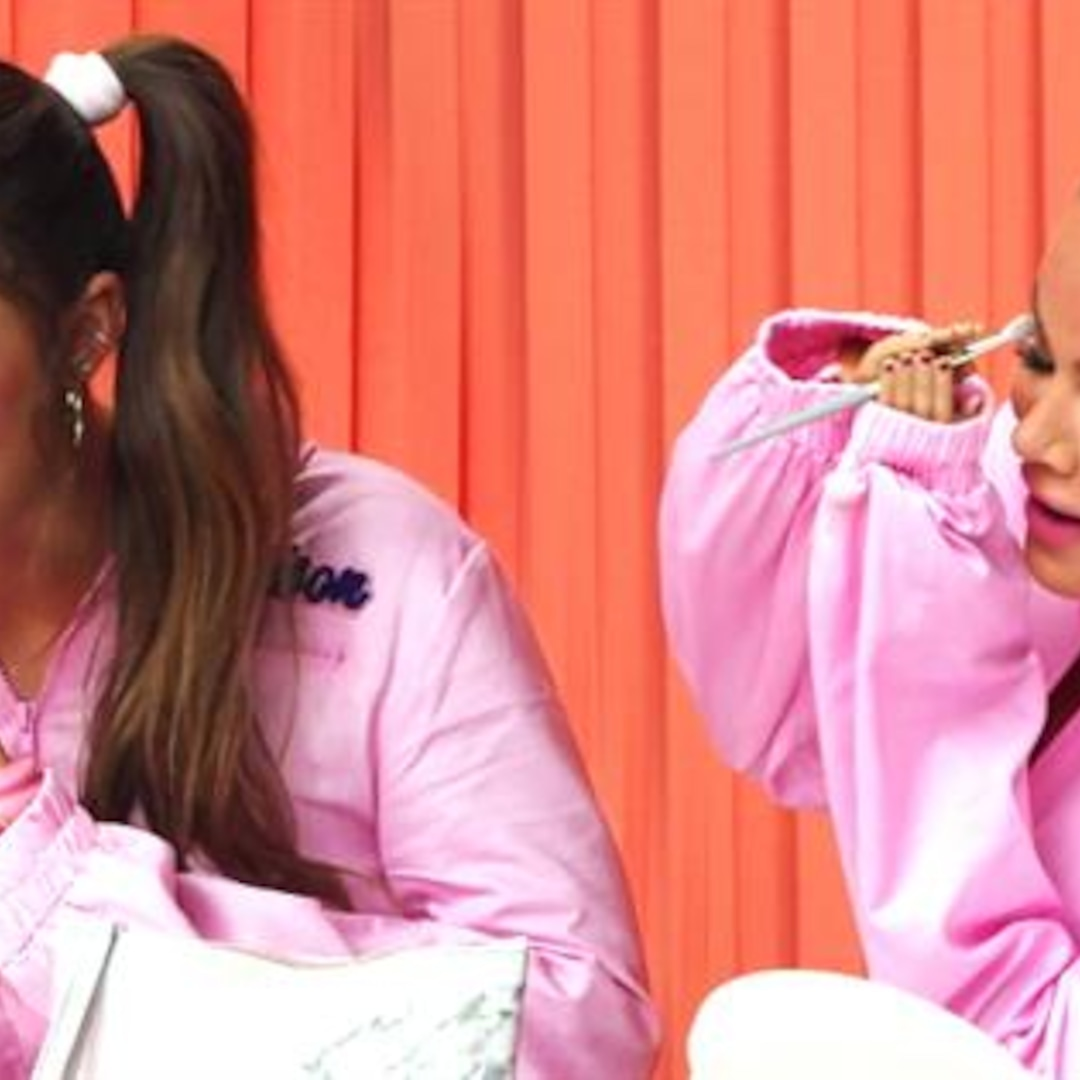 Khloe Kardashian & Addison Rae's Hilarious Makeup Challenge