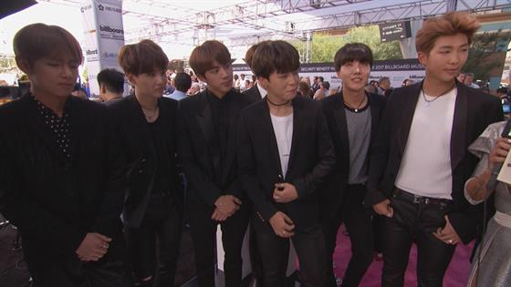 Korean-Pop Boy Band BTS Hit the 2017 Billboard Music Awards