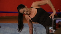 Nikki Bella Takes the Plank Challenge