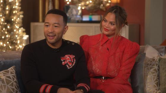 A Legendary Christmas.John Legend Chrissy Teigen Talk 90s Inspired Christmas Special