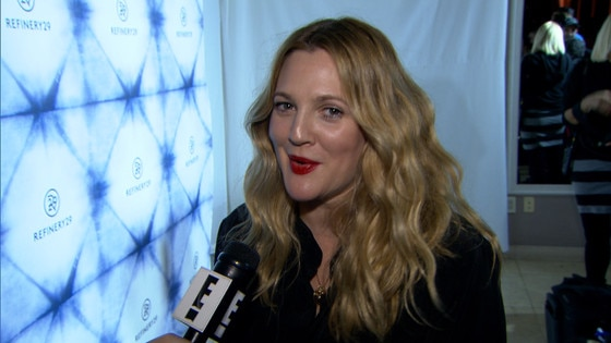 Drew Barrymore Wears Black Swimsuit During European