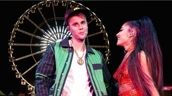 Justin Bieber Ariana Grande S Surprise Collab At Coachella E Online