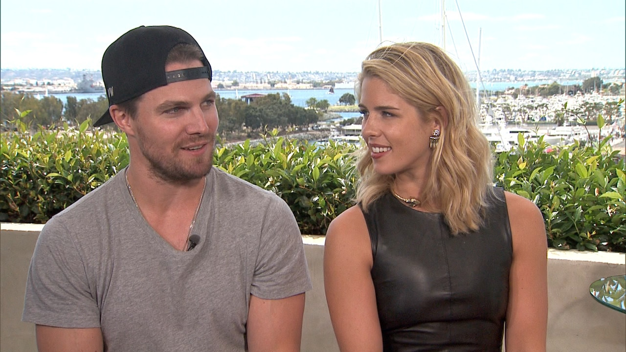 Arrow's Stephen Amell and Emily Bett Rickards Role-Play Olicity's Domestic Bliss and it Might Be Better Than the Real Thing!